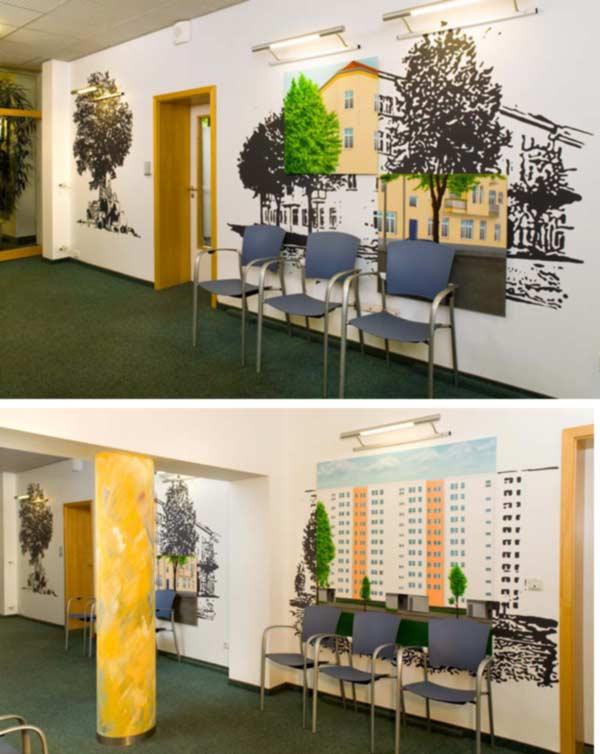 Gelbe Dekowand Blume Für Wohnzimmer ~ Wohndesign und Möbel Ideen