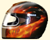 Helme Airbrush Design flammen