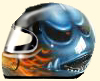 Helm Airbrush flammen