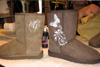 Ugg design boots airbrush